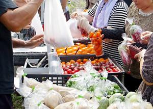 収穫祭 野菜販売